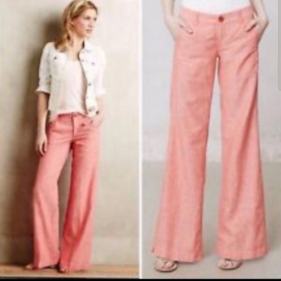 Anthropologie Pants - Daughter of Liberation Linen Wide Leg Pants (EM00)